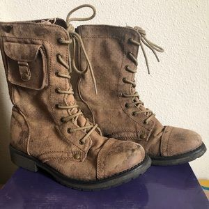 Roxy Ankle Combat Boots